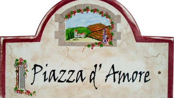 Tuscan Style Address and House Numbers Plaques