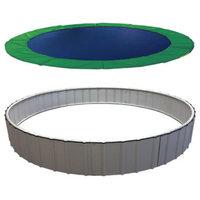 Next-Gen In-Ground Trampoline System, Green, 15', Stainless Steel Upgrade