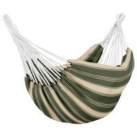 Montlake Brazilian Hammock, Heather Fern Green Stripe