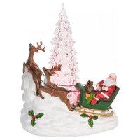 Light Up Santa Scene Figurine