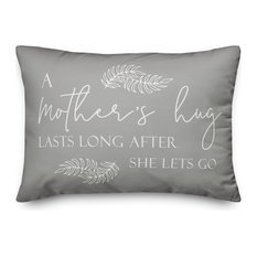 A Mother's Hug Lasts Long After She Lets Go 14x20 Lumbar Pillow Cover