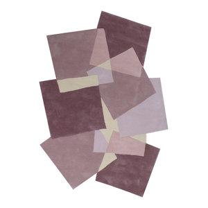 Pebbles Squares Rug, Pink, 240x170 cm