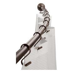 InterDesign Bronze Curved Shower Rod