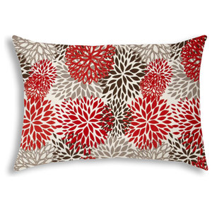 Bursting Blooms Brown Indoor Outdoor Pillow Contemporary Outdoor Cushions And Pillows By Joita