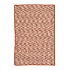 Outdoor Houndstooth Tweed Rug, Orange, 12'x15'