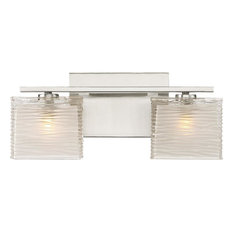Bath Fixture 2 Light Brushed Nickel