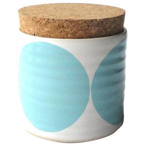 Spots Sugar Jar, Light Blue