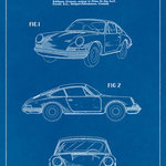 Keep Calm Collection - Porsche 911 Carrera Blueprint Art Poster - High quality print on durable paper. Size: 12 x 18 inches. Printed in the USA and suitable for framing.