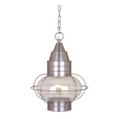 """Vaxel Lighting OD21836BN Chatham 13"""" Outdoor Pendant, Brushed Nickel"""