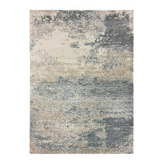 """Azure Area Rug, Beige and Gray, 7'9""""x9'8"""""""