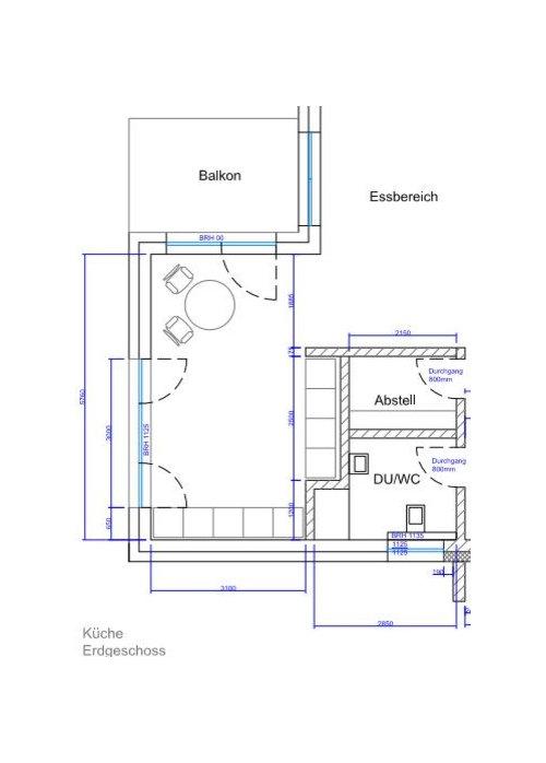 Berühmt Kuechenplanung fuer Neubau #FF_71