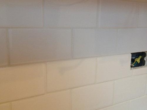 Subway Tile Backsplash Grout Is 1 8 In