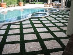 Flagstone Patio And Mondo Grass Traditional Landscape