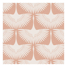 Feather Flock Peel and Stick Wallpaper, 28 Sq. ft., Sahara Blush