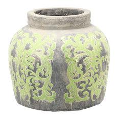 "Terracotta Jar/Planter, 13.5""x13"""