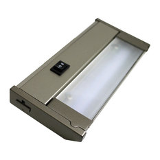 120V Dimmable LED Under Cabinet Metal Light Bar, AQUC, Champagne White, 8""