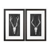 Rustic European Mounts Prints, 2-Piece Set
