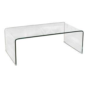 GDF Studio Classon Glass Rectangle Coffee Table