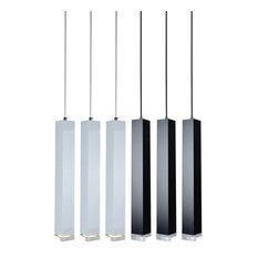 "LED Dimmable Kitchen Dining Room Pendant Light (Single Light), 24"" Black"