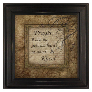 Prayer When Life Gets Too Hard To Stand, Kneel Inspirational Quote