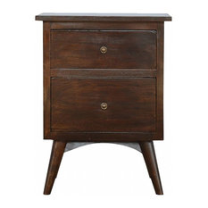 Veto Bedside Table Walnut, Solid Wood