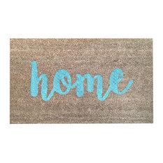 "Hand Painted Script ""Home"" Doormat, Little Boy Blue"