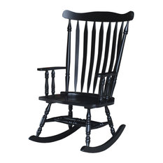 ... Concepts - Solid Wood Rocker, Antique Black - Rocking Chairs