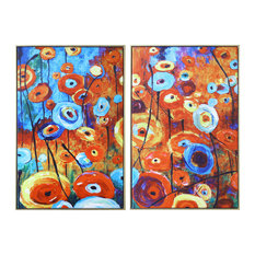 """""""Enchanted Land"""" Hand Painted Canvas Wall Art, 2-Piece Set"""