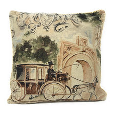 Square Woven Decorative Afternoon Stroll Throw Pillow Cushion Cover, 1 Piece