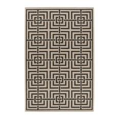 Petani Black Multipurpose Indoor/Outdoor Rug, 154x228 cm