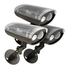 Wireless Solar LED Security Light With Pir Motion Sensor And Photocell, Set Of 3