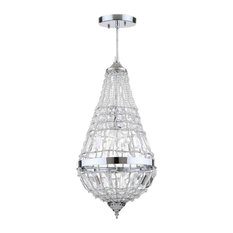 Silva Chrome Glass Byrd Chandelier in Clear and Chrome