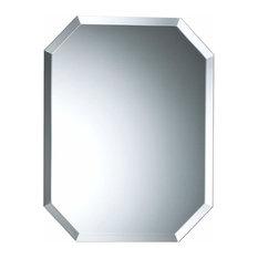 Octagonal Bathroom Wall Mirror With Bevel, 40x50 Cm