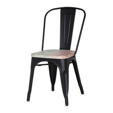 matte black metal dining chairs. find this pin and more on living