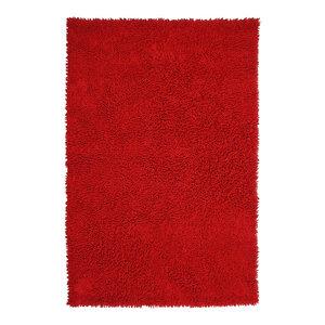 Red Shagadelic Chenille Twist Rug, 4'x6'