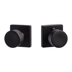 Modern Series Bergen Square Privacy Knob, Flat Black