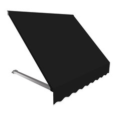 5' Dallas Retro Window/Entry Awning, Black