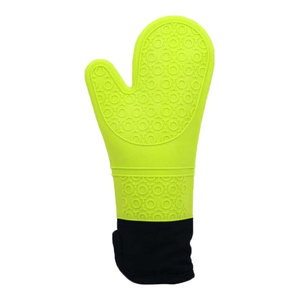 Green Oven Mitts Silicon E Oven Gloves Heat Resistant Mitt, 2-Piece Set