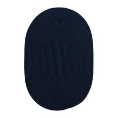 Colonial Mills, Inc - Colonial Mills Boca Raton BR52 Navy 9' x 12' Oval - Outdoor Rugs