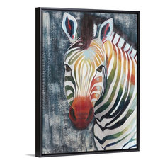 """Prism Zebra II"" Floating Frame Canvas Art, 32""x42""x1.75"""