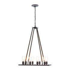 """Globe Electric 65038 8 Light 23.62"""" Wide Pendant with Shade"""
