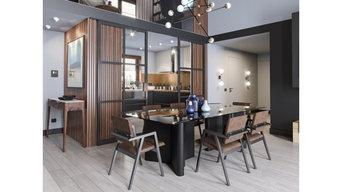 Для дружной семьи. Дизайн-проект интерьера двухэтажного частного дома.