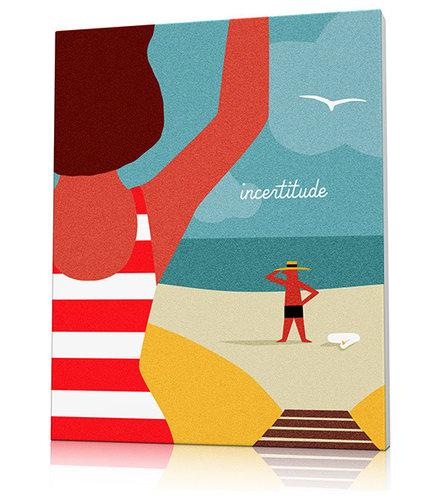 Tableau plage Deauville - Imprimé et Poster