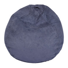 Ace Casual Furniture - Large Microsuede Bean Bag, Washed Blue - Bean Bag  Chairs