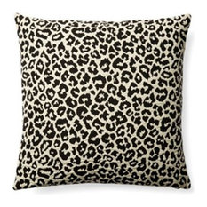 Leopard Pillow, Black and Cream