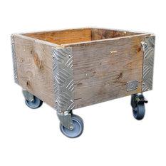 Quadro Upcycled Pallet Wheeled Box, 1 Layer