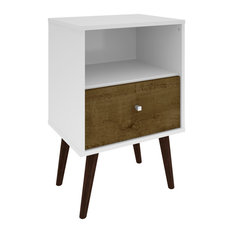Manhattan Comfort   Liberty Mid Century Modern Nightstand 1.0 With 1 Cubby  Space And 1