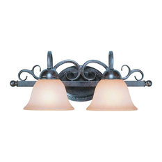 Craftmade 22002 Sheridan 2-Light Bathroom Vanity Light, Forged Metal