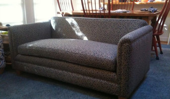 A loveseat to remember:  After a complete upholstery job.