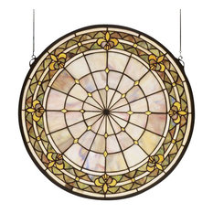 Meyda Tiffany 49840 Fleur-de-lis Stained Glass Tiffany Window